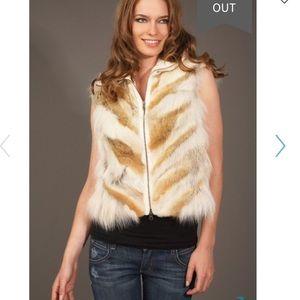 Adam Lippes knit fur vest XS
